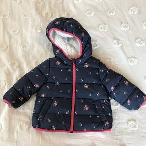 baby Gap Sherpa-Lined Puffy Coat with Hood